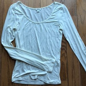 Plain white long sleeve t shirt from Garage
